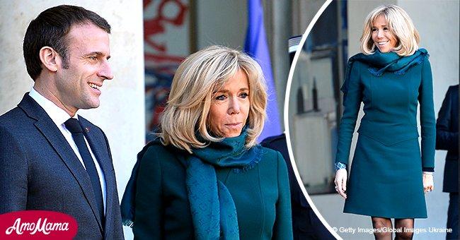 Malgré le gel hivernal, Brigitte Macron dévoile ses jambes en robe courte (photos)