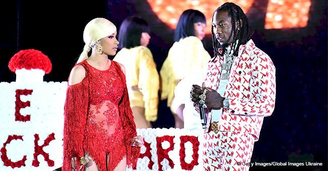 Cardi B kicks Offset off the stage after he begs her to take him back in emotional video