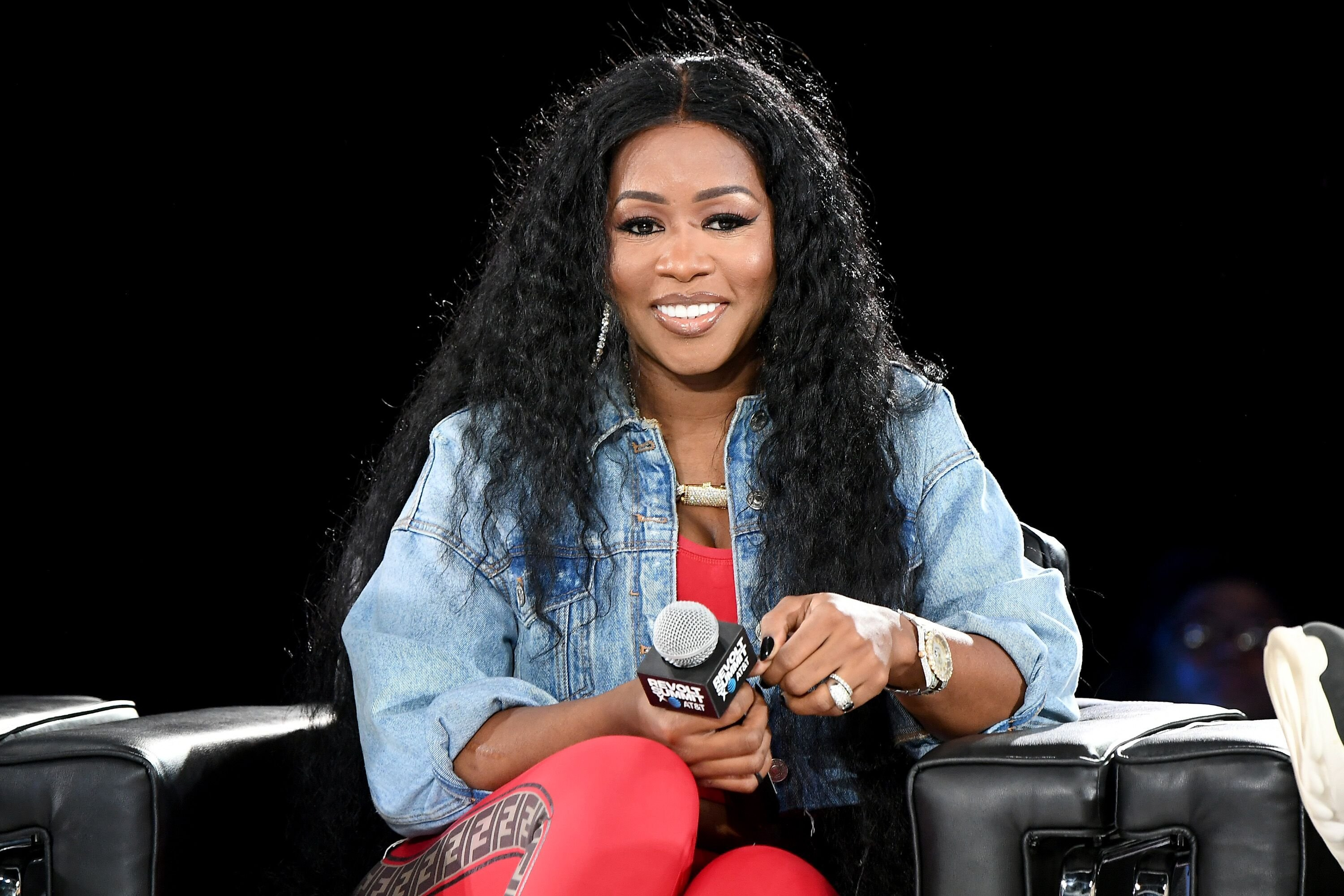 Remy Ma onstage at the Revolt Summit x AT&T event in Atlanta, Georgia | Source: Getty Images/GlobalImagesUkraine