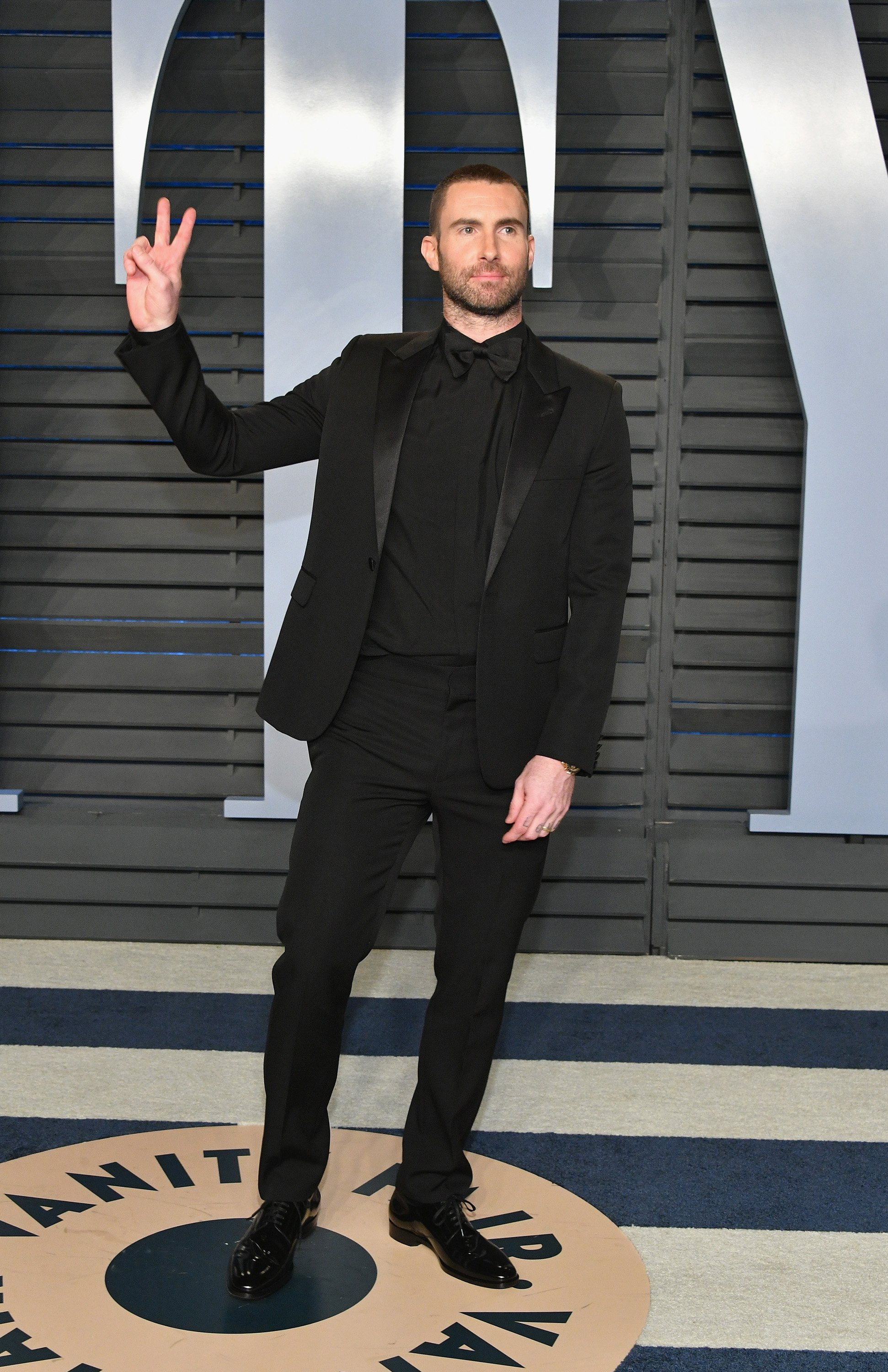 Adam Levine pictured at the 2018 Vanity Fair Oscar Party hosted by Radhika Jones, 2018, California.   Photo: Getty Images