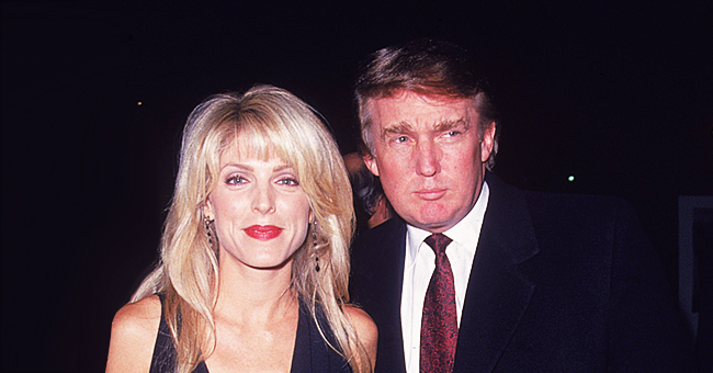 Donald Trump's Ex-Wife Marla Maples Flaunts Her Figure in Striped Belted Dress in a Throwback Photo