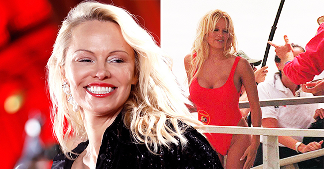 Pamela Anderson Uses Iconic Red 'Baywatch' Swimsuit to Surprise Her Dates