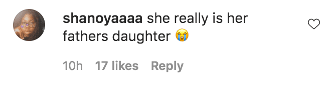 A fan commented on a video of Chris Brown dancing with her daughter Royalty Brown   Source: Instagram.com/missroyaltybrown