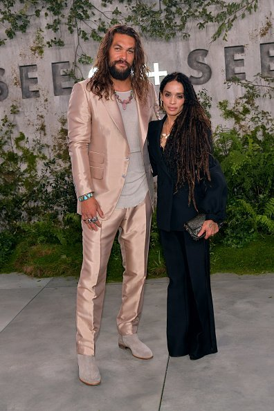 """Jason Momoa and Lisa Bonet attend the world premiere of Apple TV+'s """"See"""" at Fox Village Theater 