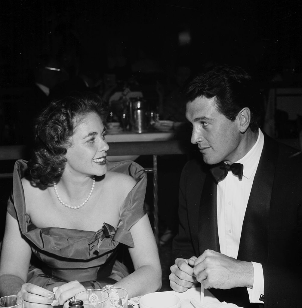 Rock Hudson and Phyllis Gates attend the Screen Directors Dinner on 02 February, 1957 in Los Angeles,California | Photo: Getty Images
