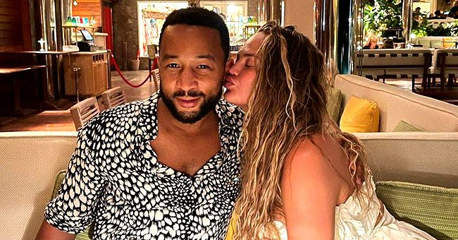 John Legend Steals Fans' Hearts Smiling in a Sweet Selfie with His Look-Alike Daughter Luna