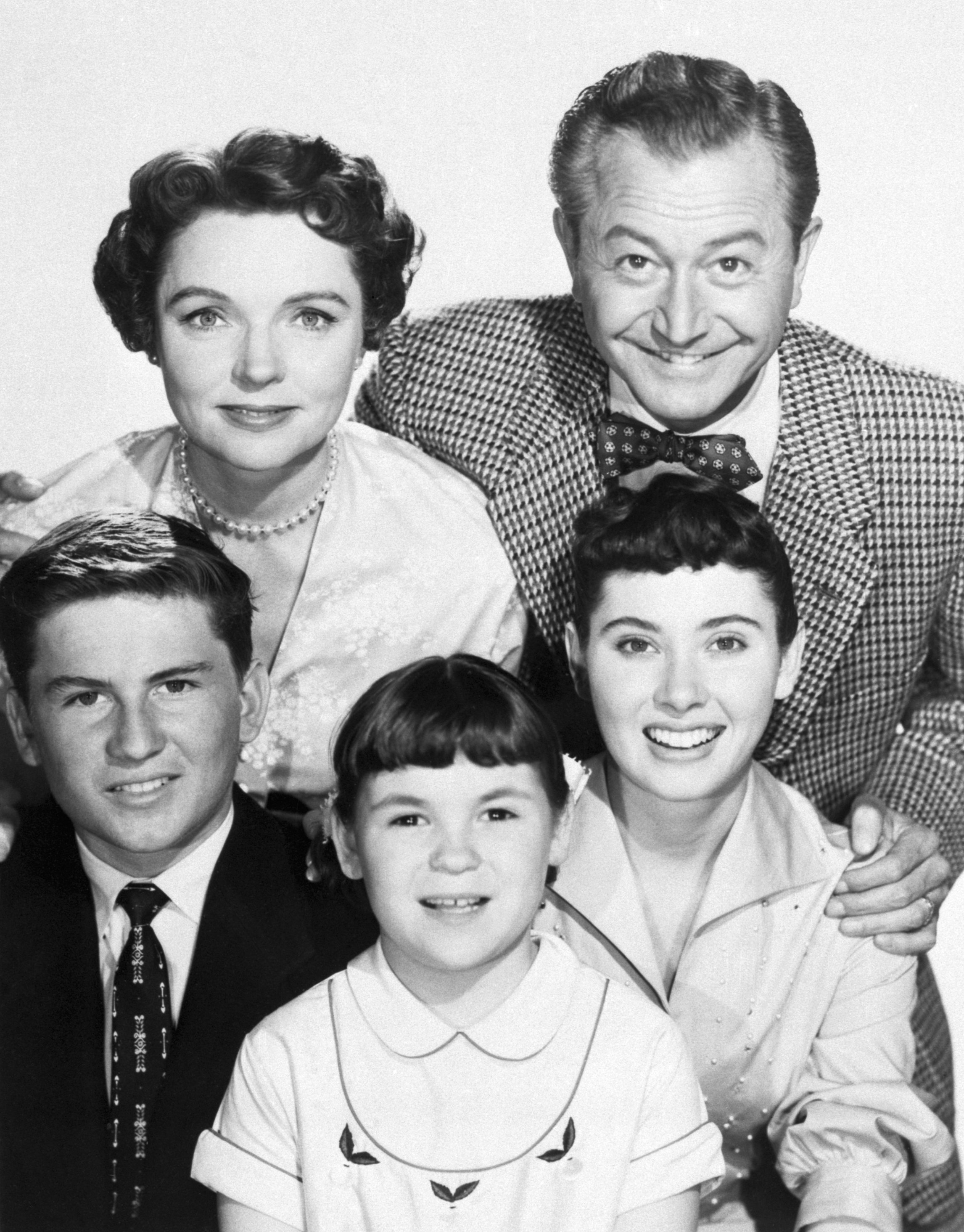 """Robert Young and Jane Wyatt with the TV family from the show """"Father Knows Best"""" circa 1950s. 