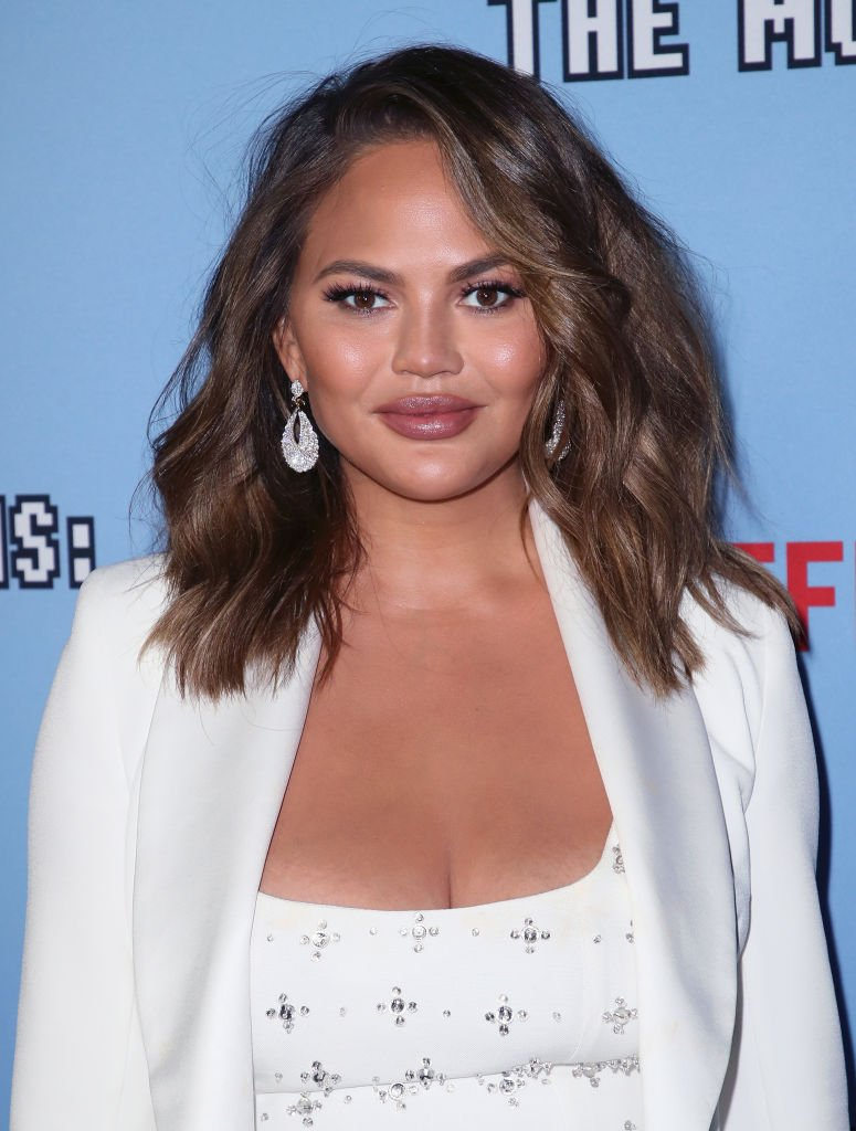 """Chrissy Teigen attends the LA premiere of Netflix's """"Between Two Ferns: The Movie"""" 