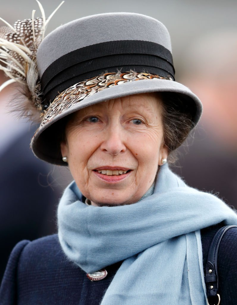 Princess Anne, Princess Royal attends day 1 'Champion Day' of the Cheltenham Festival at Cheltenham Racecourse on March 13, 2018, in Cheltenham, England. | Source: Getty Images.