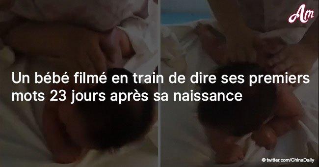 Ce bébé a été filmé en train de dire ses premiers mots 23 jours après sa naissance