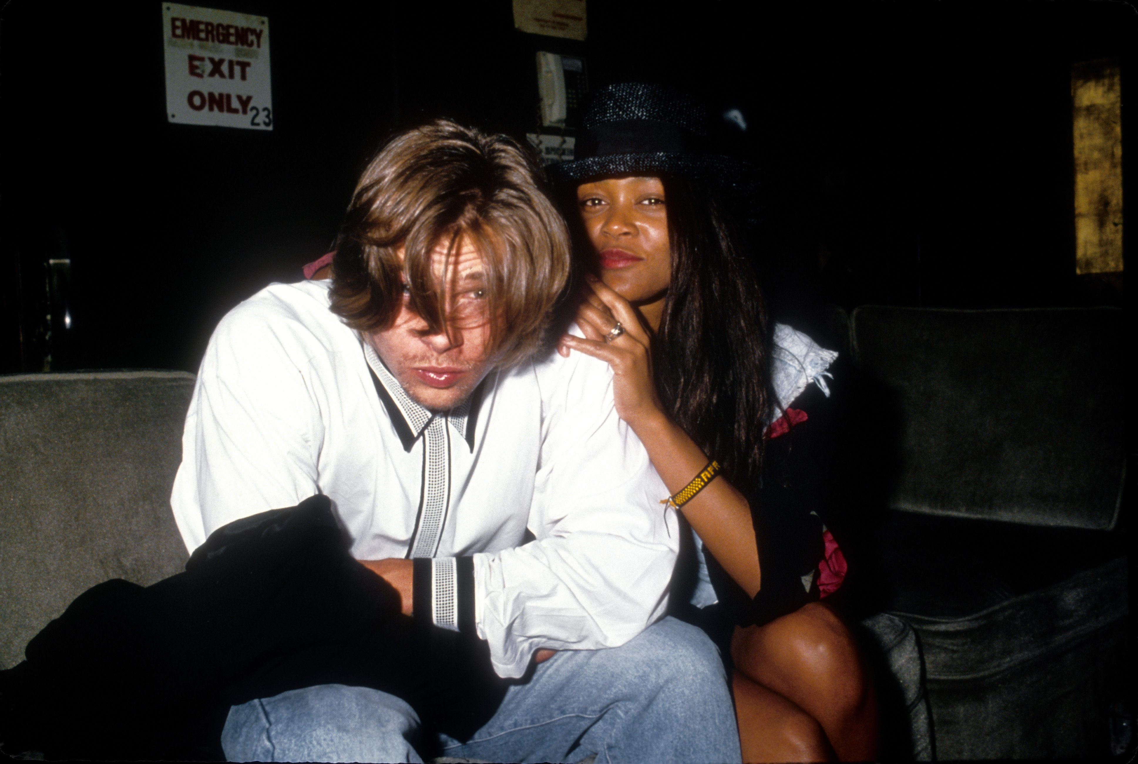 Actors Brad Pitt and Robin Givens pose for a portrait  in Los Angeles, California. Source | Photo: Getty Images