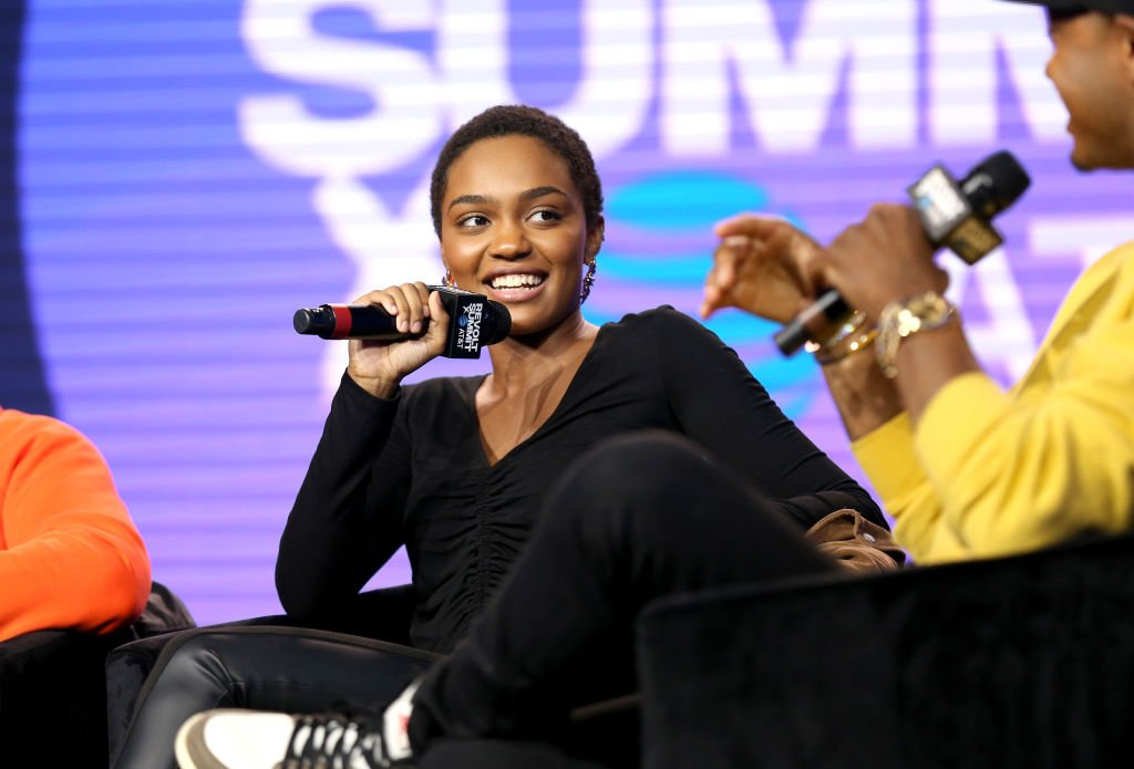 China Anne McClain speaks onstage at the REVOLT X AT&T Host REVOLT Summit In Los Angeles at Magic Box, October 27, 2019. | Source: Getty Images