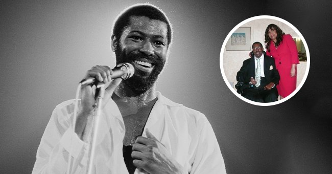 Image of Teddy Pendergrass on stage, and next a photo of the singer with his wife Joan Williams. | Photo: Getty Images, instagram.com/iamjoanpendergrass