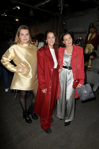 Princess Stephanie of Monaco, Pauline Ducruet, and Camille Gottlieb on February 26, 2020 in Paris, France. | Photo: Getty Images