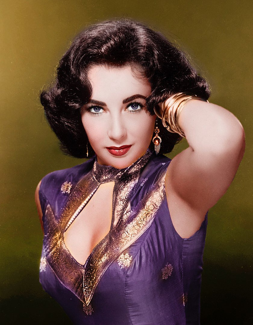 Colorized film still of Elizabeth Taylor, late 1950s | Photo: Wikimedia Commons Images