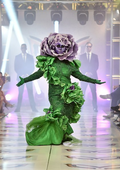 """""""The Flower"""" participates in a runway show for the premiere of Fox's """"The Masked Singer"""" Season 2 at The Bazaar at the SLS Hotel Beverly Hills on September 10, 2019 in Los Angeles, California 