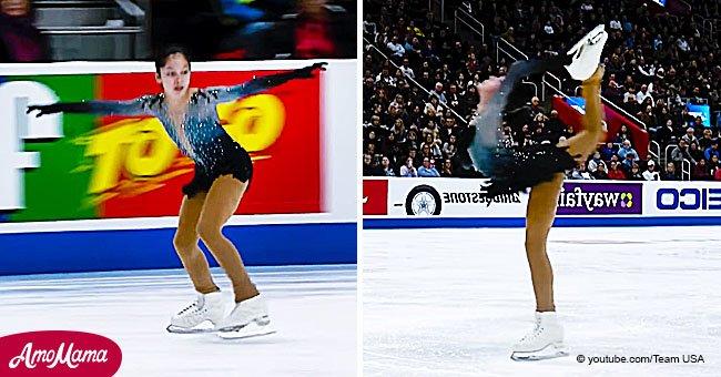 Une patineuse de 13 ans ébahit les juges avec sa routine sans faille qui lui fait gagner la première place