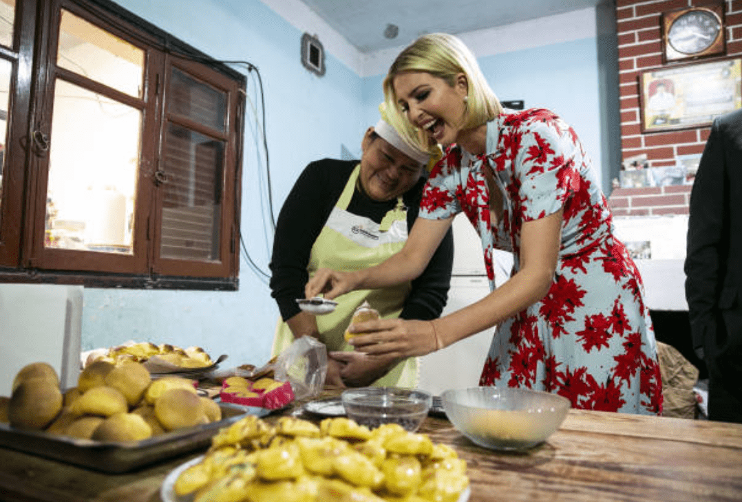 Visiting females owned businesses, Ivanka Trump makes pastry with Argentinian baker on September 5, 2019, in Purmamarca, Jujuy, Argentina | Source: Getty Images