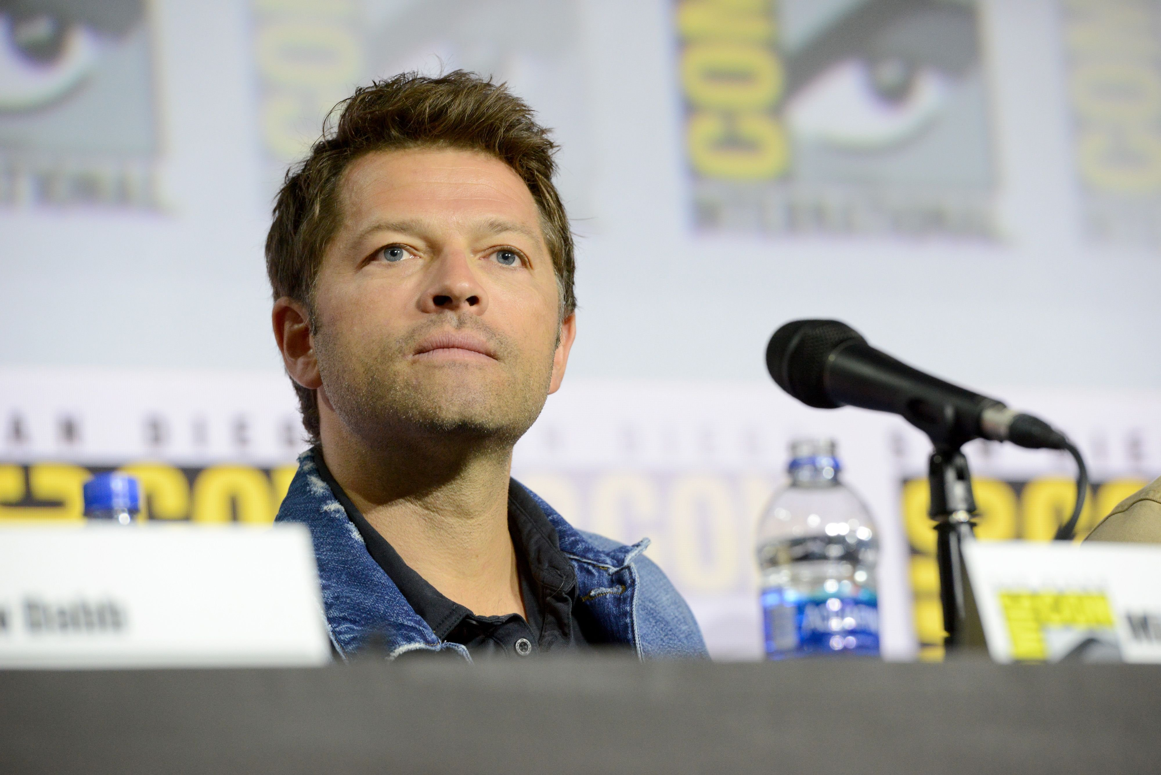 """Misha Collins at the """"Supernatural"""" Special Video Presentation and Q&A during 2019 Comic-Con International at San Diego Convention Center on July 21, 2019 in San Diego, California. 