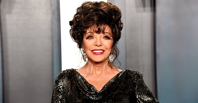 Joan Collins Shows off Her Glowing Christmas Tree in a New Instagram Snap