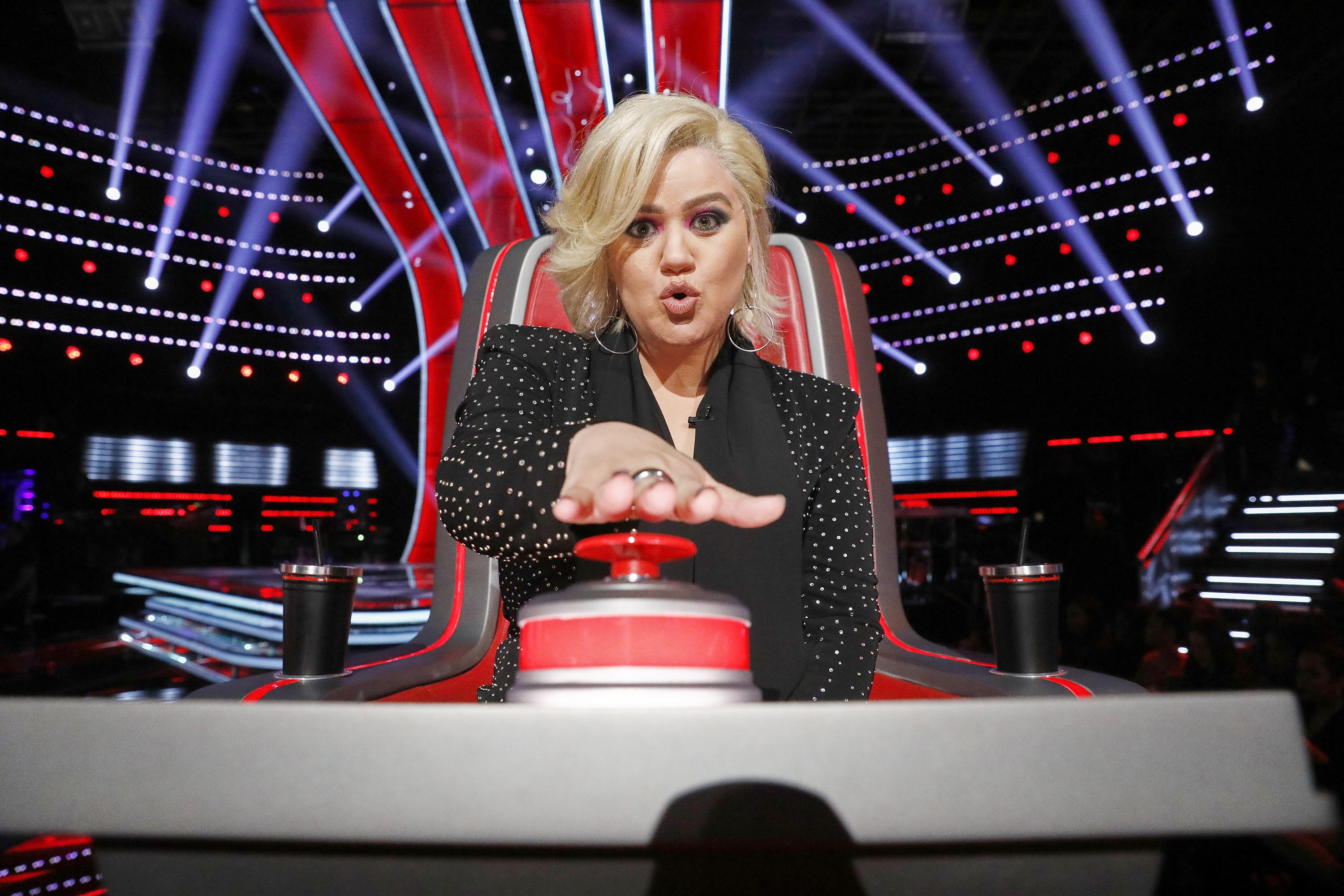 """Kelly Clarkson during season 18 of """"The Voice."""" 