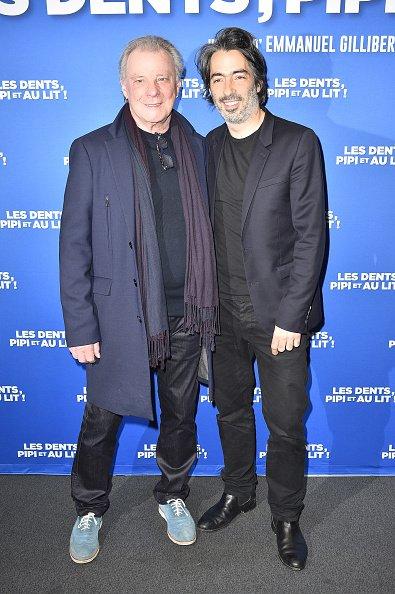 La photo de Herbert Léonard avec Emmanuel Gillibert à Paris, en 2018 | Source: Getty Images / Global Ukraine