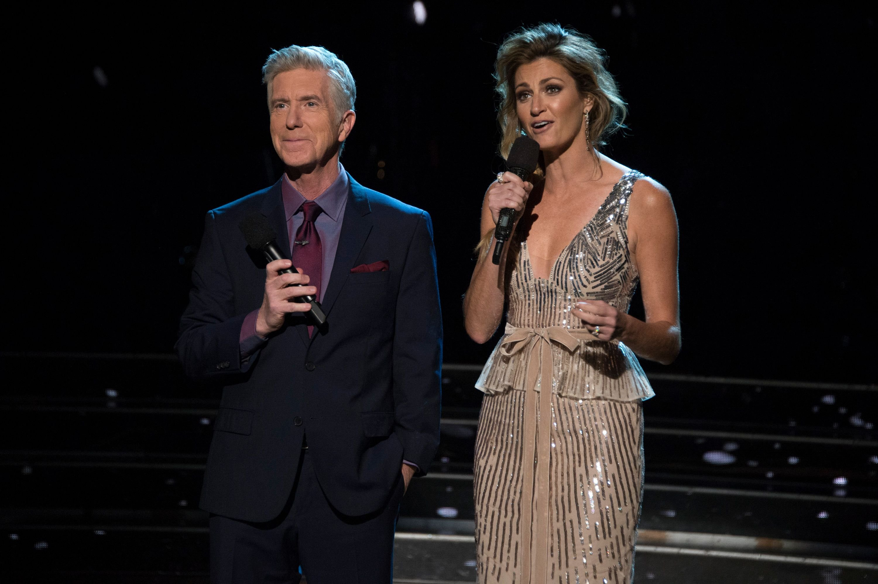 """Tom Bergeron and Erin Andrews at ABC's """"Dancing With the Stars"""" - Season 27 - Week Eight - SemiFinals on November 12, 2018 