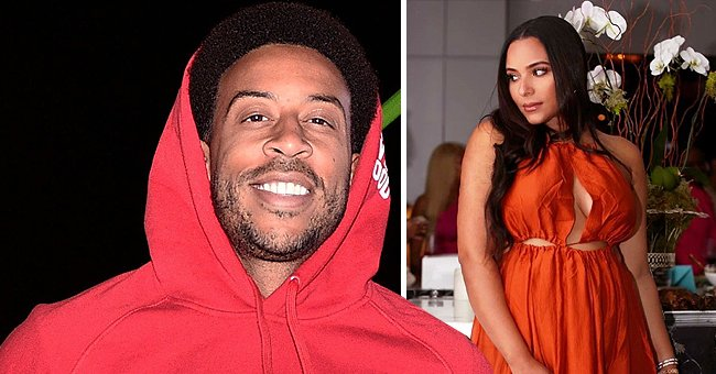 Ludacris' Pregnant Wife Eudoxie Stuns in an Orange Maxi Dress in a New Photo Taken by Him
