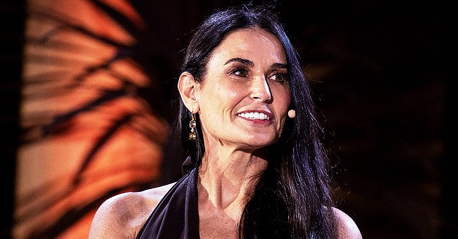 Check Out Demi Moore as She Shows Wrinkle-Free New Look in Glasses & Fuzzy Leopard-Print Beret