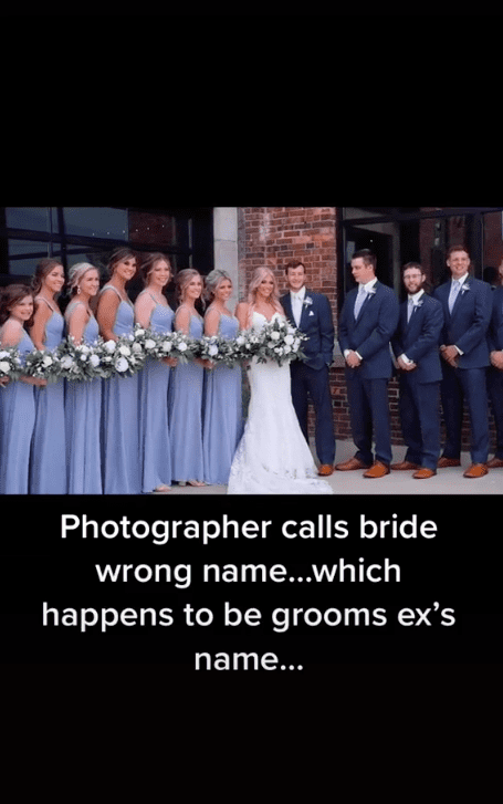 Screenshot of video showing the wedding party.   Source:TikTok/  jpvideography2141