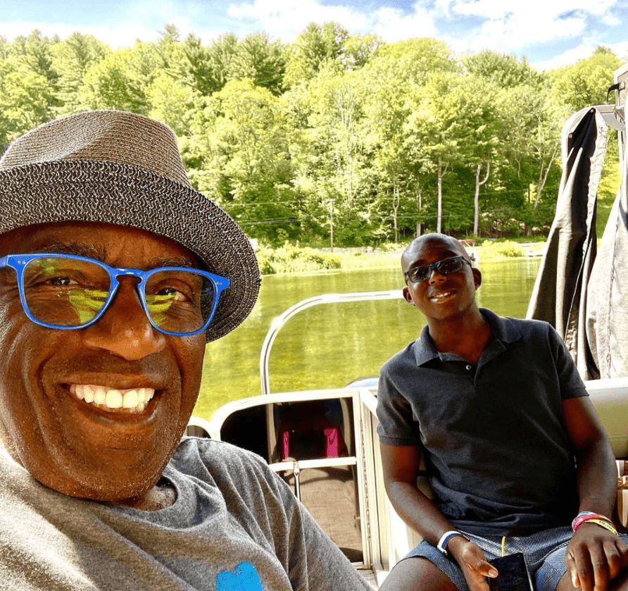 """A screengrab of """"Today"""" show star AI Roker and his son Nick 