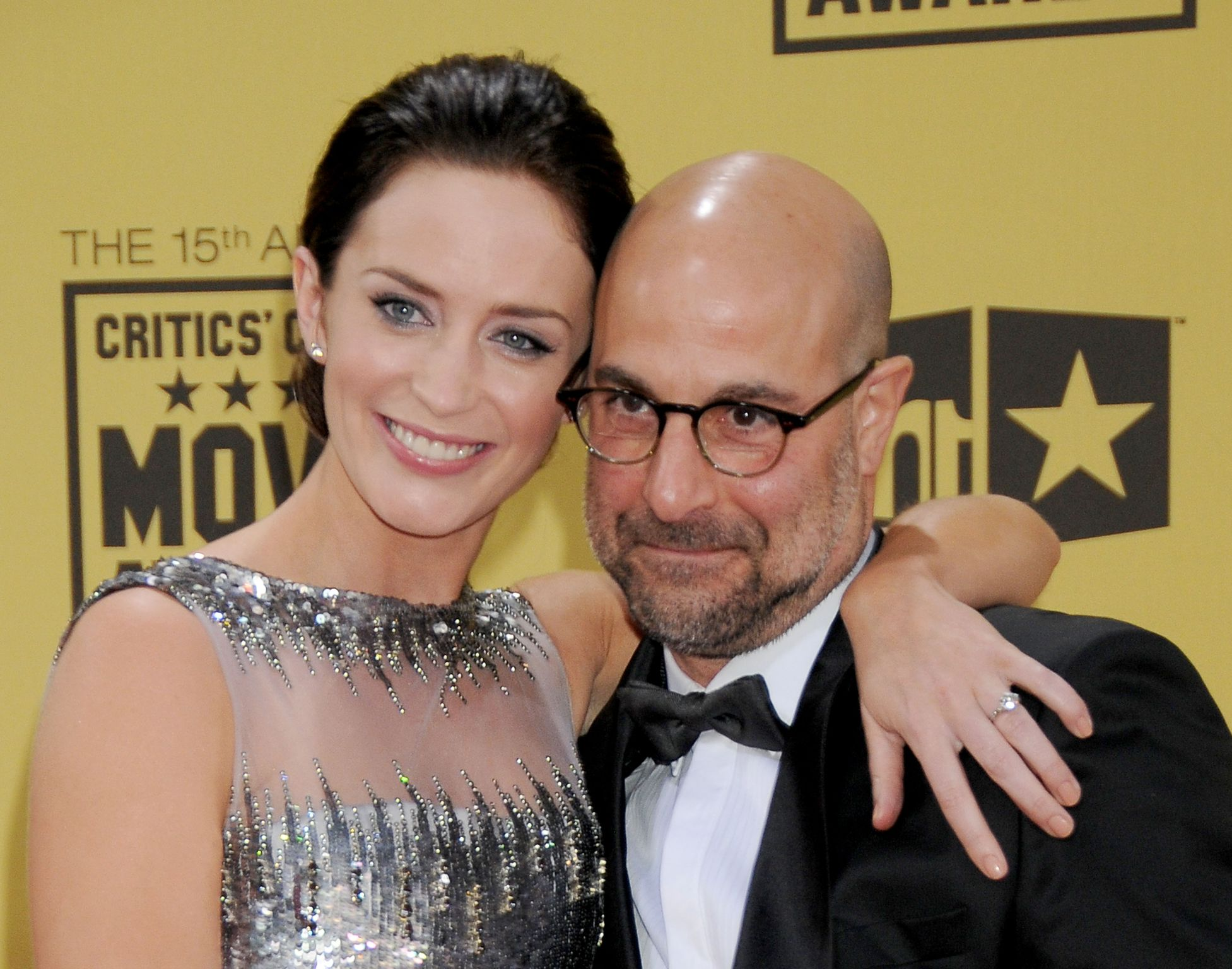 Emily Blunt and Stanley Tucci at the 15th Annual Critics' Choice Movie Awards in 2010 in Hollywood, California | Source: Getty Images