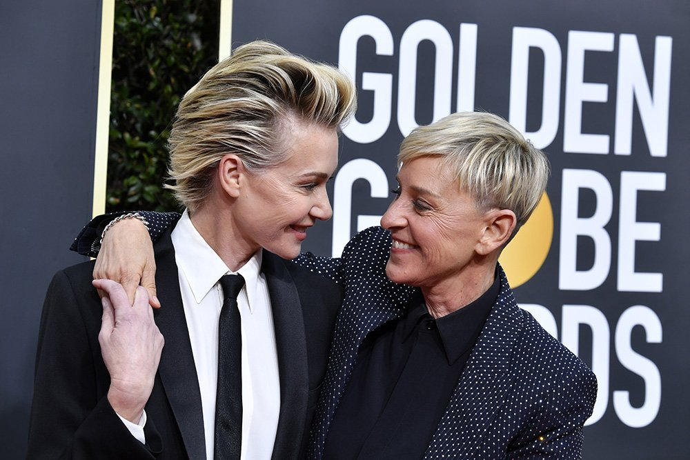 Portia de Rossi and Ellen DeGeneres attending the 77th Annual Golden Globe Awards on January 2020. I Photo: Getty Images.