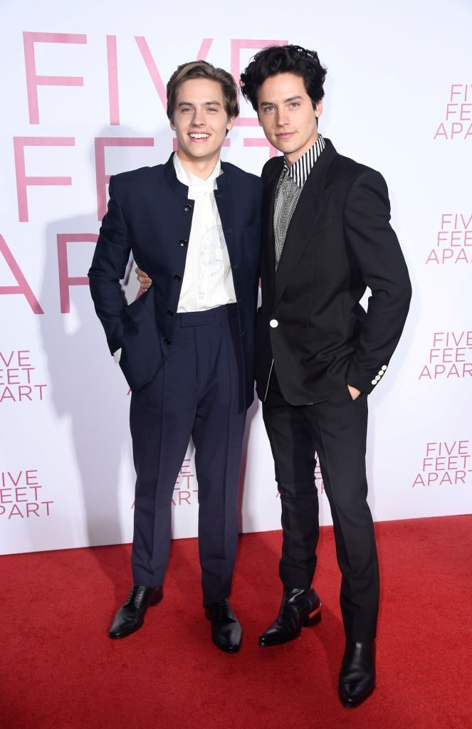 """Dylan Spouse and Cole Sprouse attend the Premiere Of Lionsgate's """"Five Feet Apart"""" at Fox Bruin Theatre  