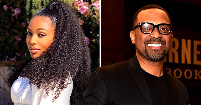 Mike Epps' Daughter Bria Shows off Curves in Denim Pants & White Blouse in a Recent Photo