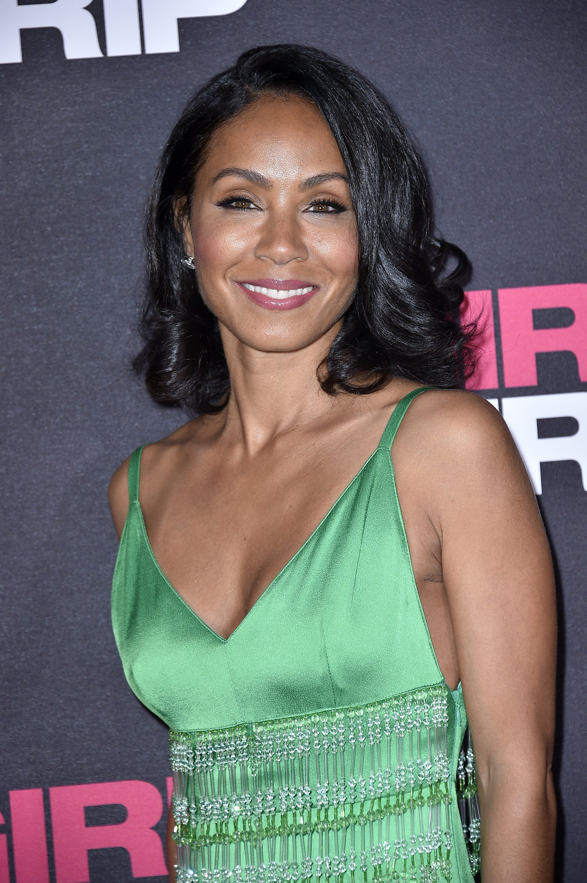 "Jada Pinkett Smith at the Paris premiere of ""Girls Trip"" in November 2017. 