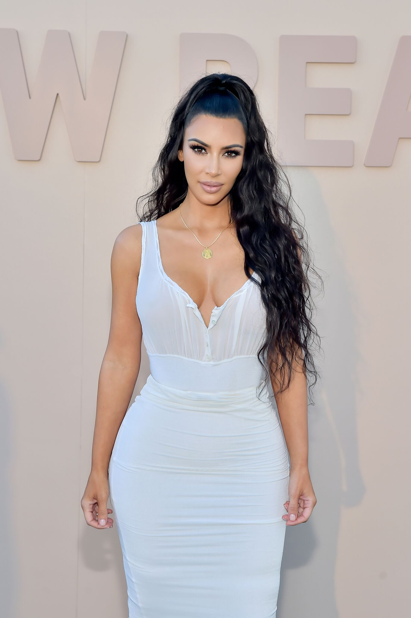 Kim Kardashian West attends KKW Beauty Fan Event at KKW Beauty | Getty Images