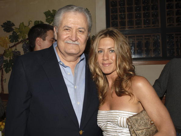"John Aniston and daughter actor Jennifer Aniston attend the after party following the world premiere of Universal Pictures ""The Break-Up"" at the Napa Grille on May 22, 2006, in Westwood, California. 