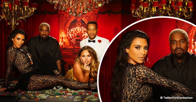 Revealed: Kim Kardashian's outstanding look as she attends John Legend's party with Kanye West