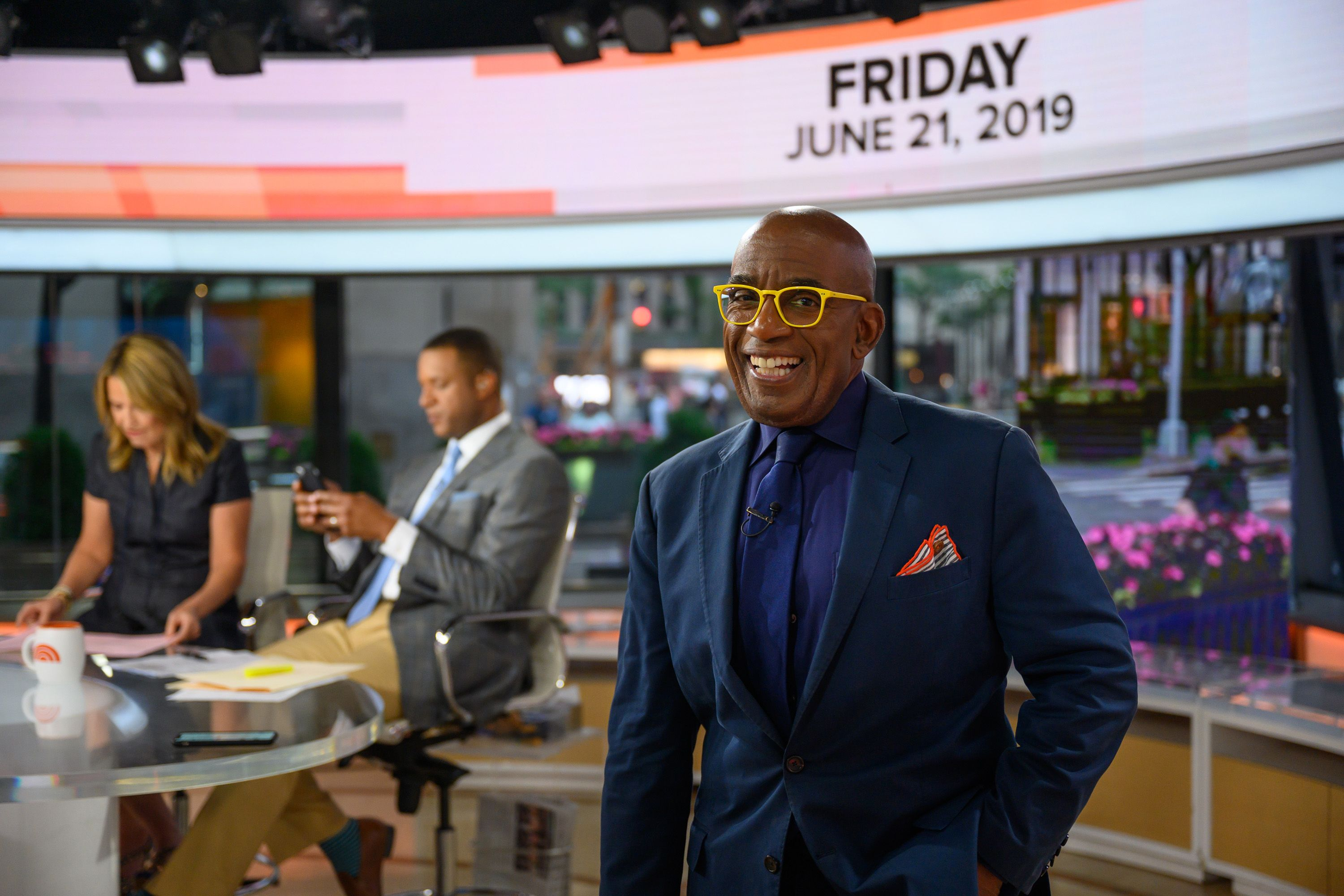 "Al Roker on the set of ""Today"" in June 2019 in New York 