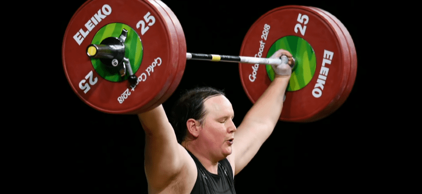 Transgender weightlifting athlete Laurel Hubbard during a sporting event | Photo: Youtube.com/CBS This Morning