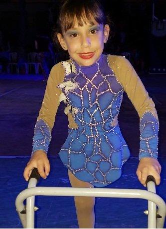 Milagros participa en competencias internacionales de patinaje. | Foto: Facebook/Infobae