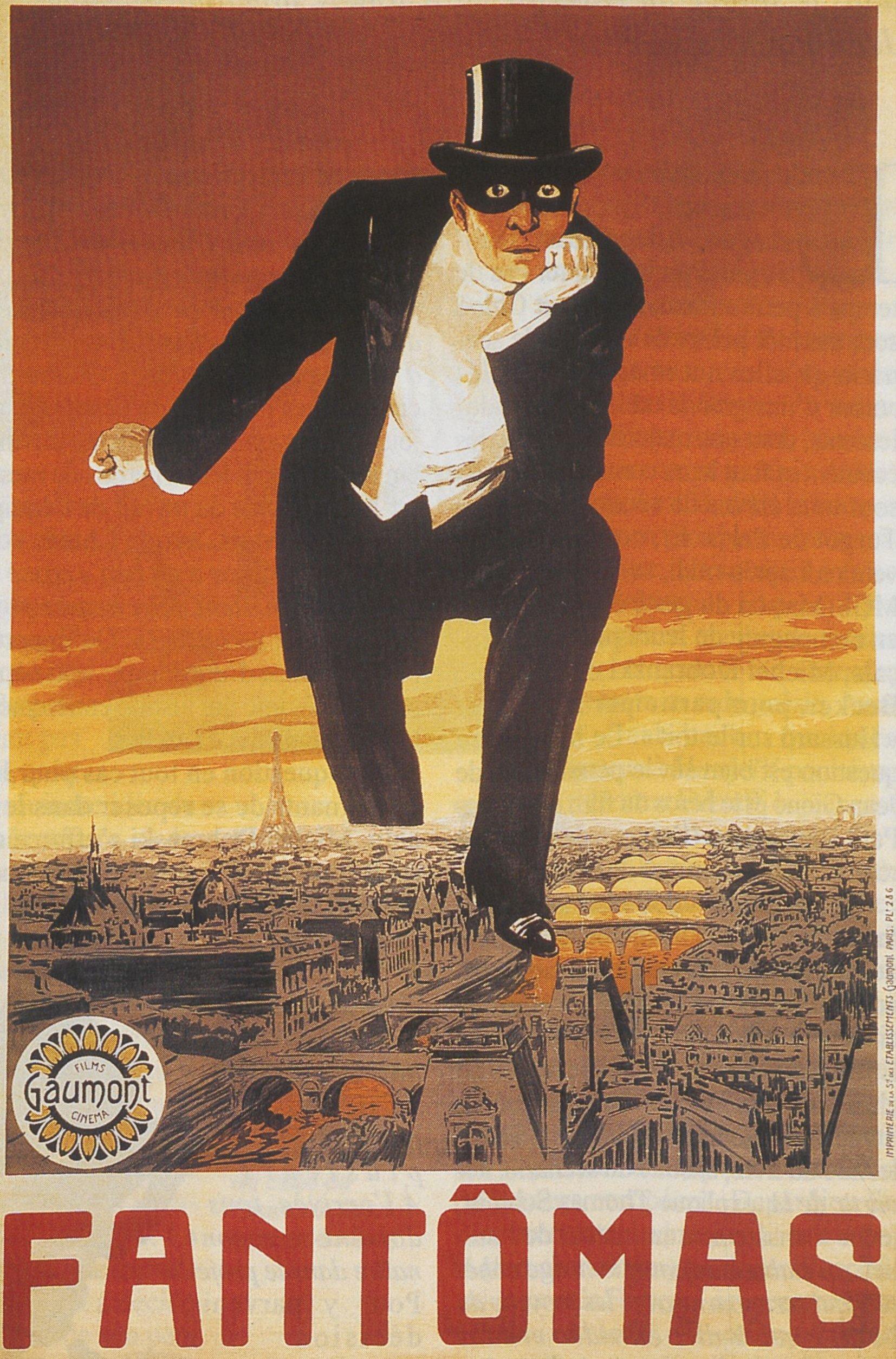 Poster oficial del filme Fantomas. | Foto: Wikimedia Commons