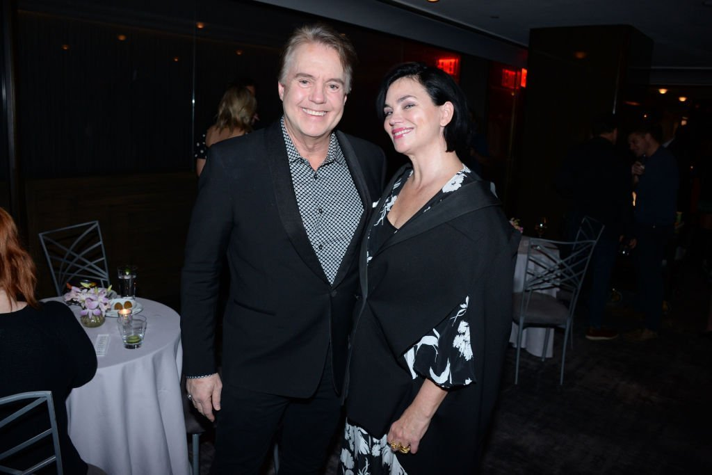 Guest and Karen Duffy attend NBC And The Cinema Society Host A Party For The Casts Of NBC Midseason 2020. | Source: Getty Images
