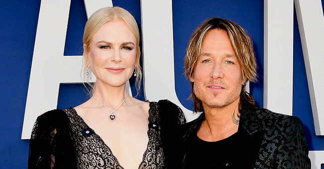 Country Singer Keith Urban Poses with Actress Wife Nicole Kidman in Photo Taken at Sunset in Italy