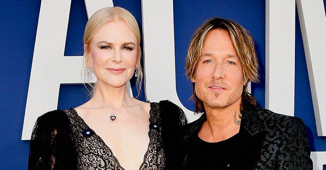 Le chanteur Keith Urban pose avec sa femme, Nicole Kidman, sur une photo prise en Italie