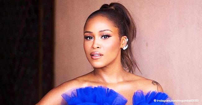 Eve Looks 'Stunning' in Blue Ruffled Gown for Daytime Emmys (Photo)