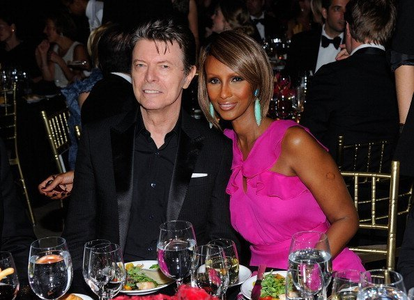 David Bowie and Iman at Cipriani Wall Street on April 28, 2011. | Photo: Getty Images