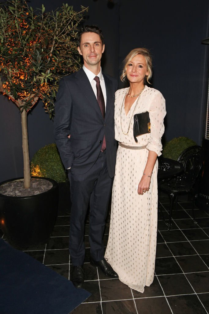 Matthew Goode, wearing dunhill, and Sophie Dymoke attend the dunhill and Dylan Jones pre-BAFTA dinner and cocktail reception celebrating Gentlemen in Film | Getty Images