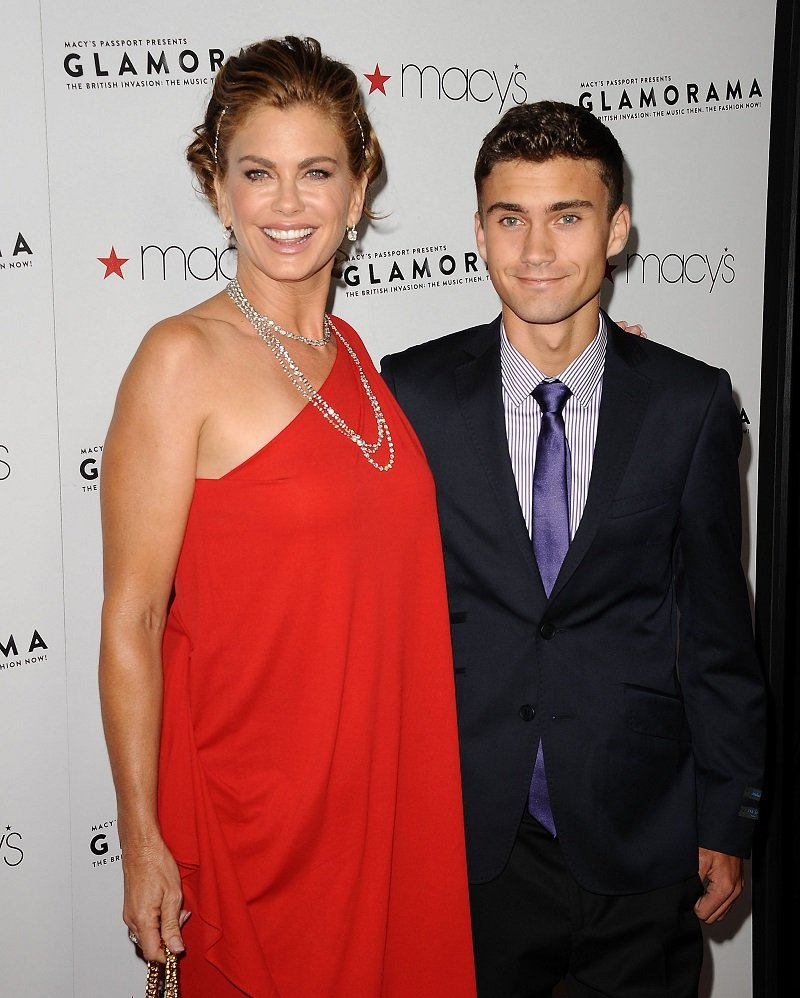 "Kathy Ireland and Erik Olsen attending Glamorama 2012 ""The British Invasion: The Music Then, The Fashion Now!"" in Los Angeles, California in September 2012. 
